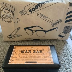 Made In USA Maptote Travel Bag + Man Bar Luxe Soap